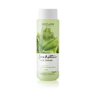 Love Nature Face Toner Aloe Vera - Oriflame