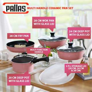 Pallas Multi Handle Ceramic Pan More Mall