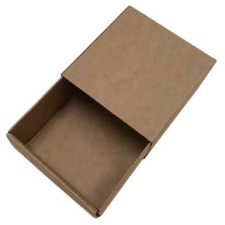 Gift Box Brown Drawer type Size 75x75x40mm now in 20 pieces pack