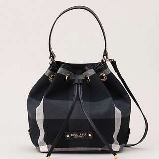 Burberry Blue Label Crestbridge Check Bucket Bag