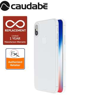 Caudabe The Veil XT iPhone X Premium Ultra Thin Case - Frost