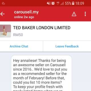 TRUSTED SELLER & RATED BY CAROUSELL