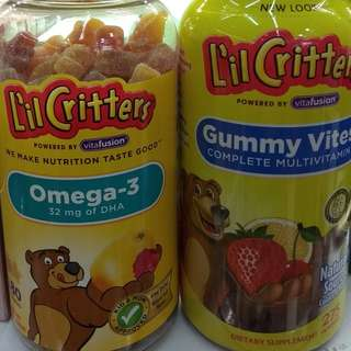 Lil Critters Multivitamins or Omega 3