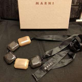 Marni plastic square rectangle pieces statement necklace