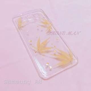 🈹特價 Samsung A8 乾花殻 押花殻 包平郵
