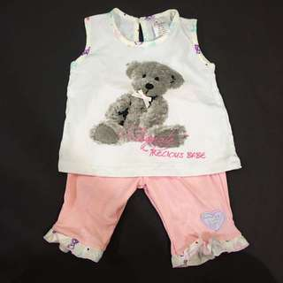 224-0076 Baby Girl Cute Set Wear