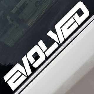 Evolved Car Sticker Decal