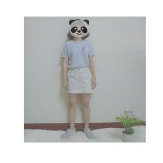 米白色的褲裙