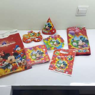 Mickey Mouse party set (6 items)