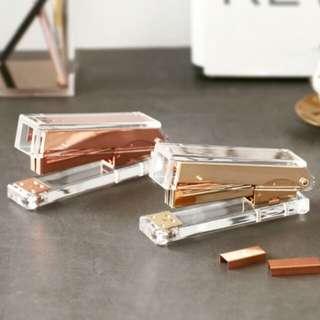 (PO) rose gold/gold stapler | stationery