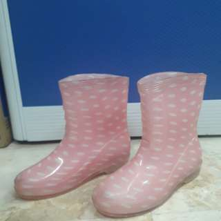 Pink Rainy boots