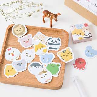 [BACK IN STOCK] Super Cute Fat Animals Decorative Stickers (45pcs / box)