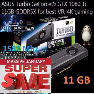 ASUS GTX 1080 TI TURBO 11G GDDR5X. ( Super Offer Sales till...28 Jan 2018....) Hurry Grab it while Stock Last..!! (Save yrsf)