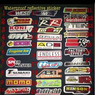 Reflective Racing sticker