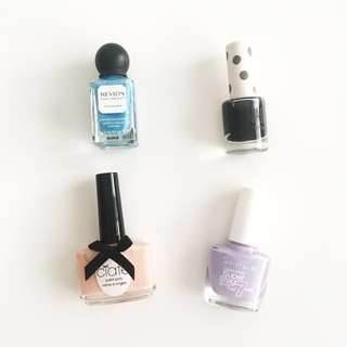 Ciate, Topshop, Maybelline, Revlon nail polishes