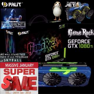 "Palit GTX 1080 Ti GameRock Premium Edition 11GB GDDR5X. ( Super Offer Sales till...28 jan 2018.....) ""6 month ago, OLD"""
