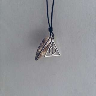 Kalung Harry Potter Deathly Hallows Hipster