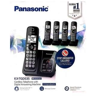 Panasonic Five Handset Cordless Phone KX-TGD535