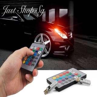 Multi Colour T10 Light With Remote