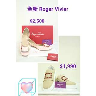 全新 Roger Vivier 平底鞋 高踭鞋 Shoes High heel Classic Sneaker Shoes方扣