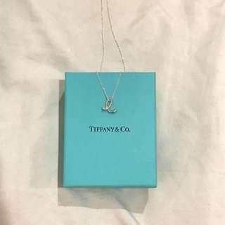 Brand New 100% Real Tiffany & Co Silver Letter E Necklace Elsa Peretti RRP $390