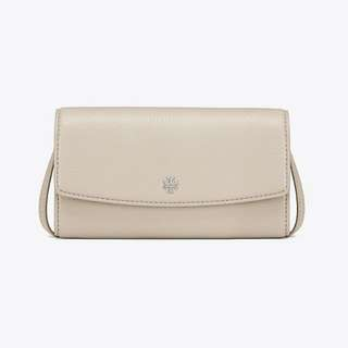 Tory Burch Robinson Pebbled Mini Flap Wallet Cross-body