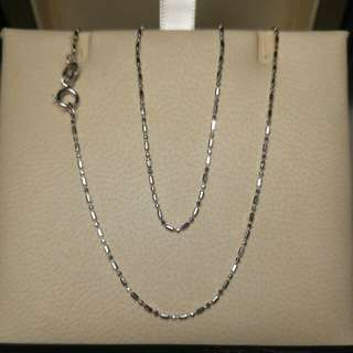 18k白金頸鏈white gold necklace