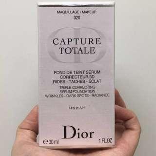 Christian Dior Triple correcting serum foundation 完美活膚三重修復精華粉底液SPF25 020 Loght beige 30ml