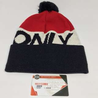 Only ny logo beanie navy/red