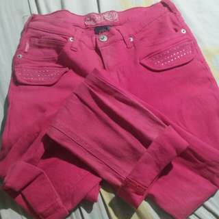 Highwaisted pink pants