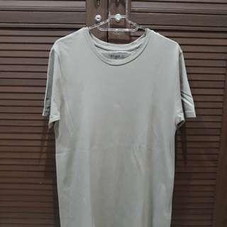 Forever 21 Men Beige T Shirt