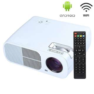 HowiseAcc Smart Wireless 2600 Lumens LED Portable Projector Support 1080P Android WIFI Connection
