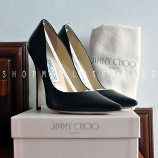 Jimmy Choo Anouk Pumps in Black Kid Leather (USED ONCE) Size 36.5 EU