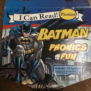 Batman phonics fun books set