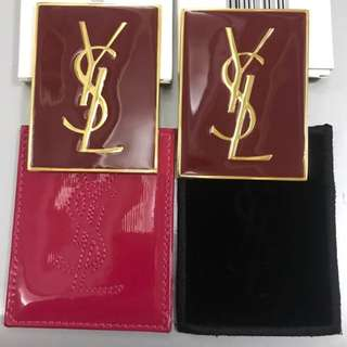 YSL pocket mirror with cover