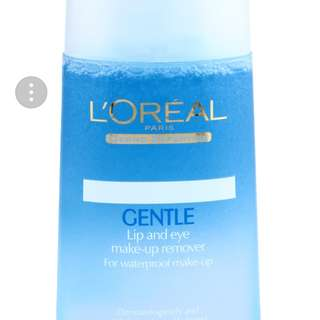 L'oreal lip and eye make up remover