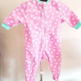 Neon winter fleece cute bodysuit | 1yo