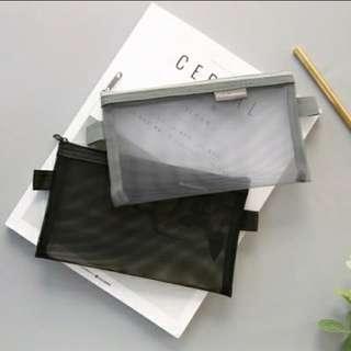 (PO) #S01 Korean Transparent Pencil Case Harujuku