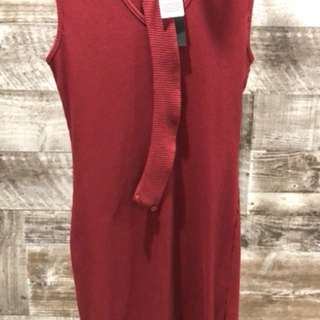 Brand new Maroon dress with choker