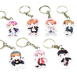 ⚠️ Free Kpop BTS EXO Seventeen Badges and keychain with purchases