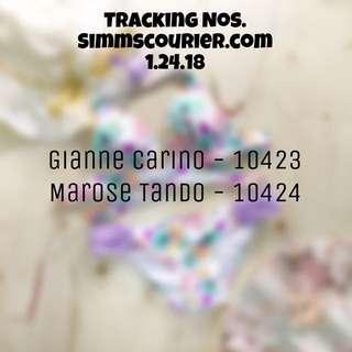 Tracking nos 1.24.18