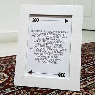 Customised Frame Quotes