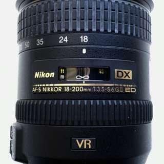 Nikon AF-S DX 18-200mm f/3.5-5.6 GII ED Lens