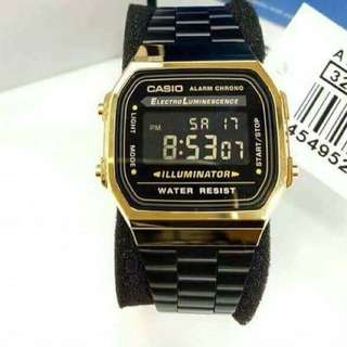 CASIO BLACK GOLD WATCH