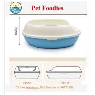 [ PET FOODIES ] TRUMPET KING SIZE SEMI-ENCLOSED PINE LITTER BOX