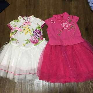 Almost new CNY toddler dress
