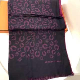 🎗#Hermes 羊絨圍巾 63x180cm  靚價!