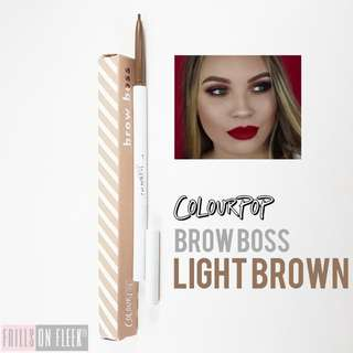 Brandnew Authentic Colourpop Brow Boss Pencils in SOFT BLACK and LIGHT BROWN