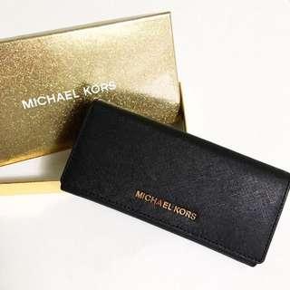 美國訂購全新現貨 Michael Kors 長銀包連盒(黑色)