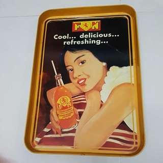 Vintage F&N serving tray